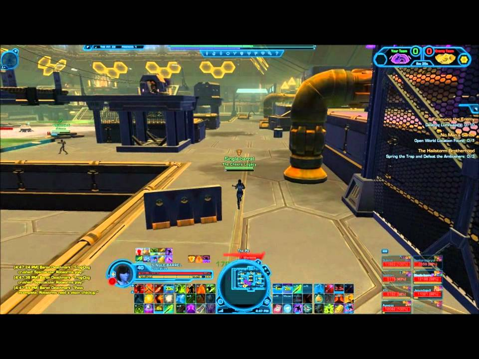 SWTOR; Operative pvp Concealment spec (level 40) - YouTube