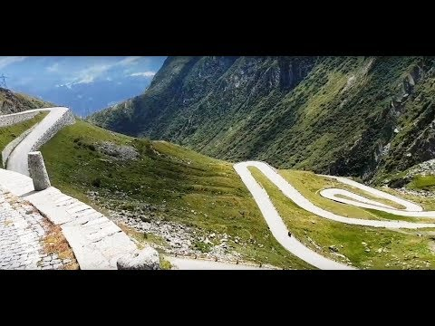 One Of The Most Beautiful Mountain Roads: Gotthard-La Tremola Driving With Gloves