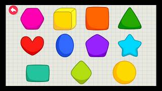 Preschool learning | learn shapes | education games for children