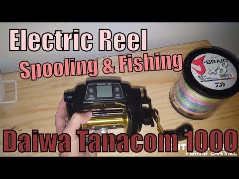 Electric Reel Spooling & Fishing (Daiwa Tanacom 1000)