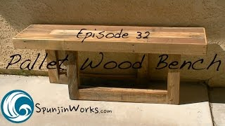EASY Pallet Wood Bench from 3 PALLETS! // DIY (Ep. 32)