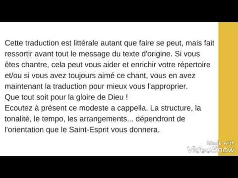 """""""Yaweh"""" en français (lyrics), Living Faith Connections Choir"""