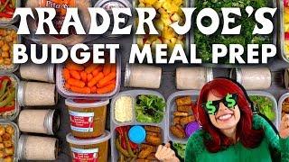$37 Trader Joes Budget Meal Prep | 1 Hour Vegetarian Meal Prep