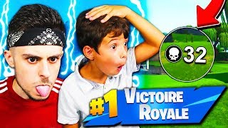 MY PETIT FRÈRE IS SHOCKED by THIS NEW SECRET OF PLAYER PRO ON FORTNITE! Incredible... 😱
