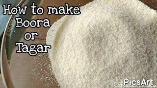 हलवाई जैसा भूरा घर पर बनाए | how to make tagar or boora | boora for ladu and peda | चीनी का बूरा
