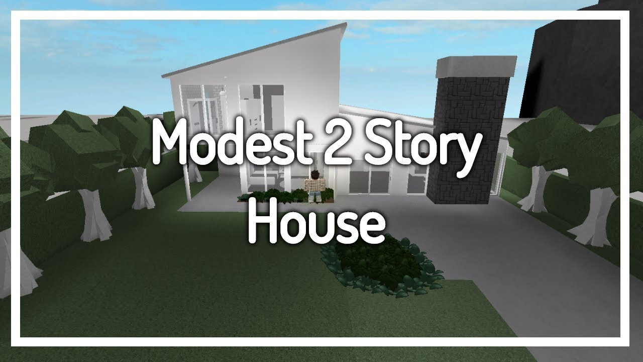 Giveaway Welcome To Bloxburg Modest 2 Story House