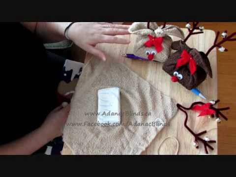 Reindeer soap towel gift set christmas crafting - How to make towel decorations ...