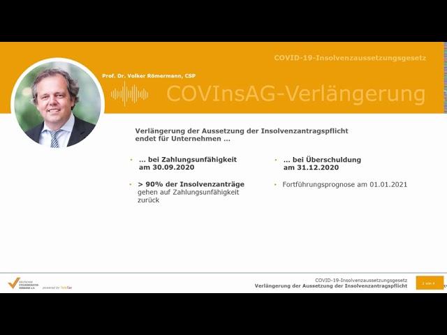 COVID-19-InsolvenzaussetzungsgesetzVerlängerung der Aussetzung der Insolvenzantragspflicht
