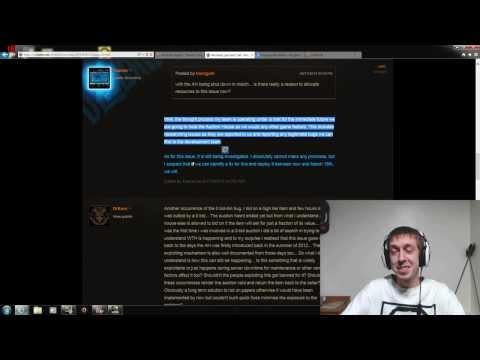 Auction House 0 Gold Bid Exploit / Bug - Error 31041 - Diablo 3 1.0.8
