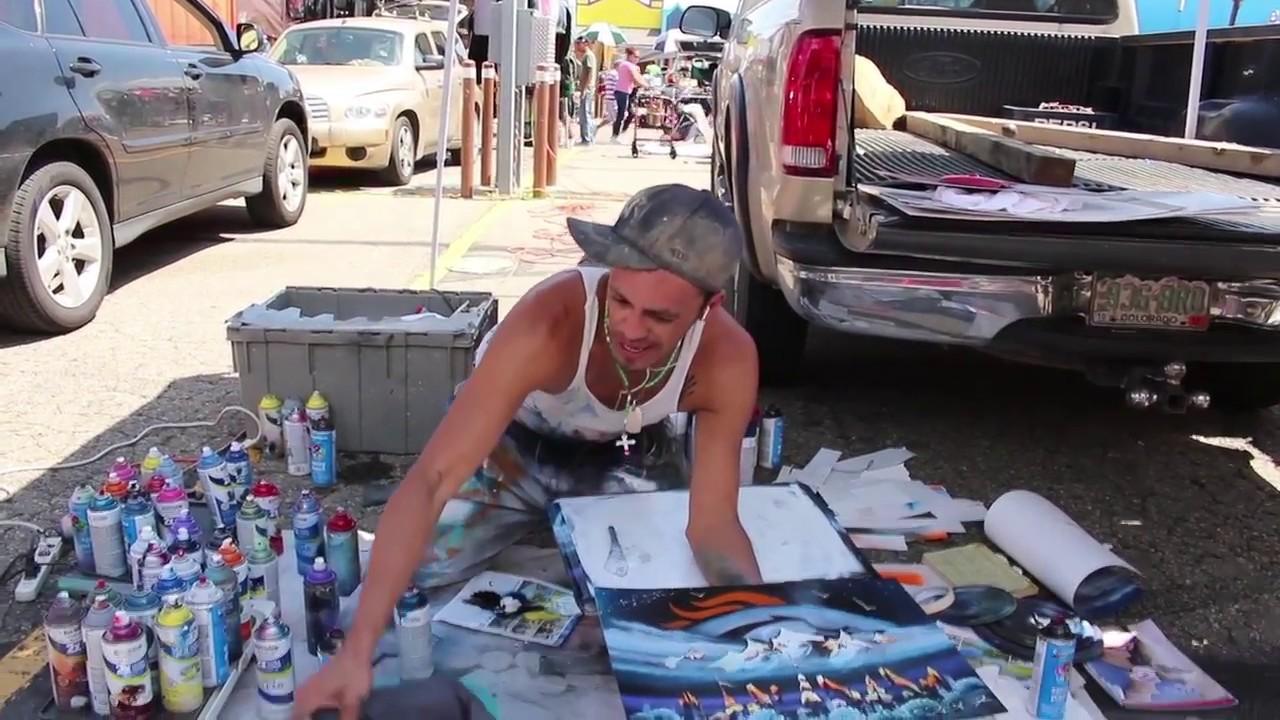 Mile High Flea Market Spray Paint Artist