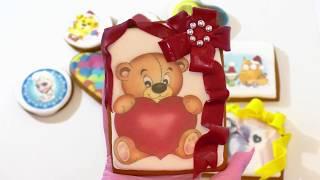 ИМБИРНЫЕ ПРЯНИКИ пищевая печать на пряниках. Decoration and food seal on gingerbread.