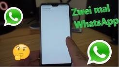 Zwei mal WhatsApp auf dem Smartphone