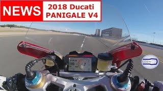 2018 Ducati PANIGALE V4 / Top Speed, Acceleration, V4 engine, Brutal Sound, Akrapovic, Termignoni