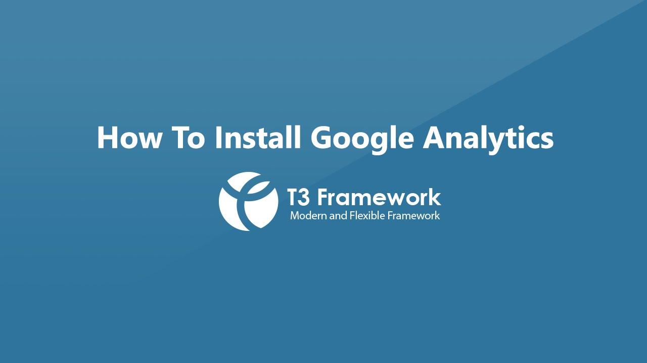 Install Google Analytics into Joomla site video tutorial
