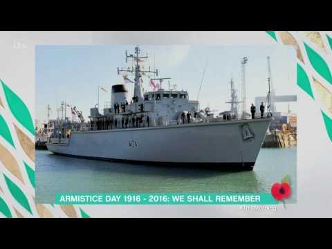 Lieutenant Commander Simon Cox Commemorates Armistice | This Morning