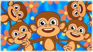 Five Little Monkeys Collection – Best Nursery Rhymes on HeyHop Kids