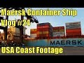 Container Ship Vlog #24 (Footage From USA Coast)