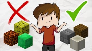 Top 10 BEST and WORST blocks in Minecraft for Building Houses