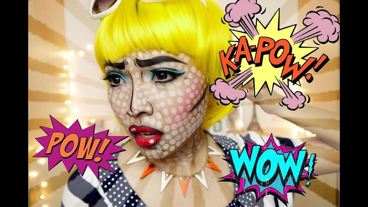 POP ART/Comics Make Up (Halloween 2013) - YouTube