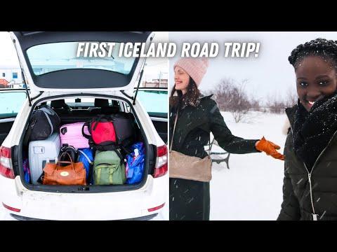 WINTER ROADTRIP incl. GEYSIR ERUPTION! day.1 🇳🇴 🇮🇸 NORWEGIANS REACT to ICELAND