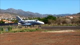 Taxi e decolagem curta do Citation Jet, PR-JNW, Macaúbas - Bahia