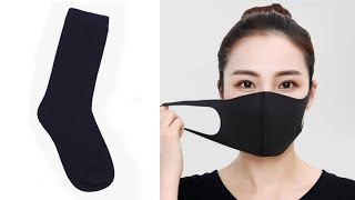 How To Make a Mask Out Of a Sock | Sock Mask For  Face | How To Make Mask With Socks  | Sock  Mask
