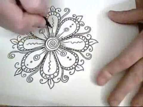 Flowers are fun ink drawing youtube for Nice drawing ideas