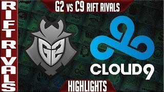 G2 vs C9 Highlights | Rift Rivals 2019 Day 1 NA vs EU | G2 Esports vs Cloud9
