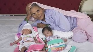 70 year old woman holds world record for giving birth to twins