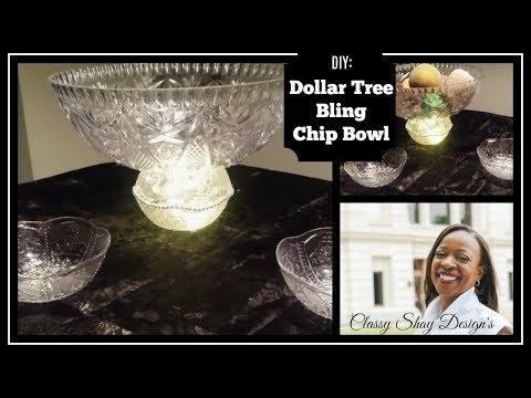 DIY: Dollar Tree Bling Plastic Chip Bowl 😍😍  Easy