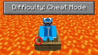 """So I added a """"cheat mode"""" difficulty to Minecraft.."""