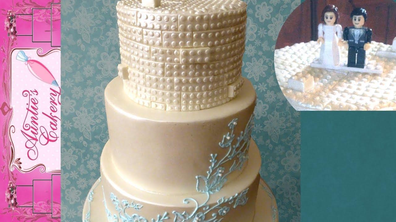 Lego Wedding Cake With Brush Embroidery Design