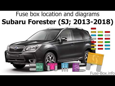 Fuse box location and diagrams: Subaru Forester (SJ; 2013-2018) - YouTubeYouTube