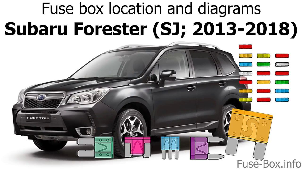 fuse box location and diagrams subaru forester sj 2013 2018 fuse box on [ 1280 x 720 Pixel ]