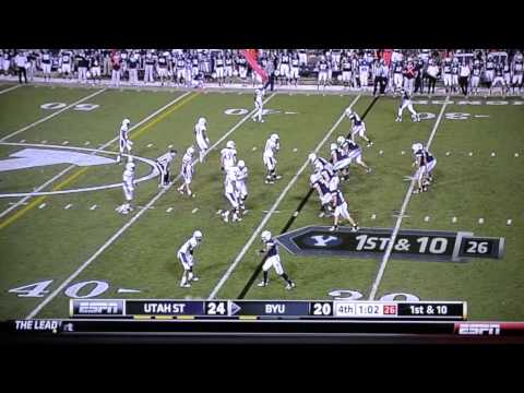 The Riley Nelson Miracle - ESPN Utah State at BYU - 9/30/11