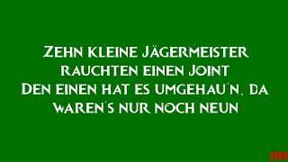 Die Toten Hosen, Zehn kleine Jägermeister-Lyrics-Text