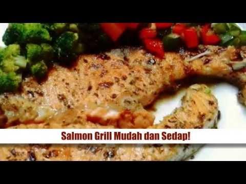 Resepi Ikan Salmon Salmon Grill Mudah Dan Sedap Youtube