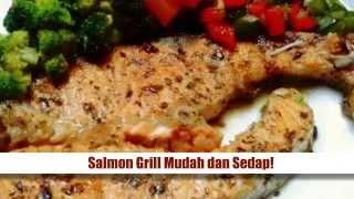 Resepi Ikan Salmon - Salmon Grill Mudah dan Sedap Cara-caranya : 1. Perapkan ikan Salmon dengan garam, lada hitam, lada sulah, serbuk oregano secukup ...