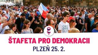 Plzeň: Štafeta pro demokracii - ŽIVĚ