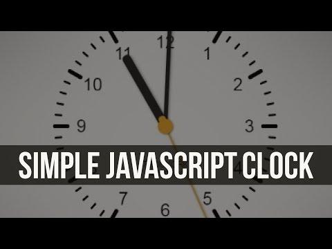 Simple Javascript Clock thumbnail