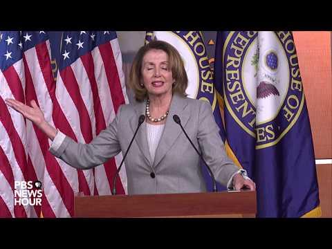 WATCH: Nancy Pelosi holds weekly news briefing