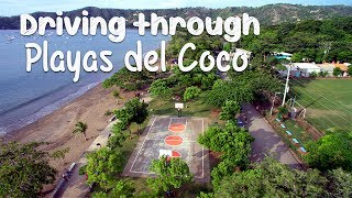 Playas del coco town drive through