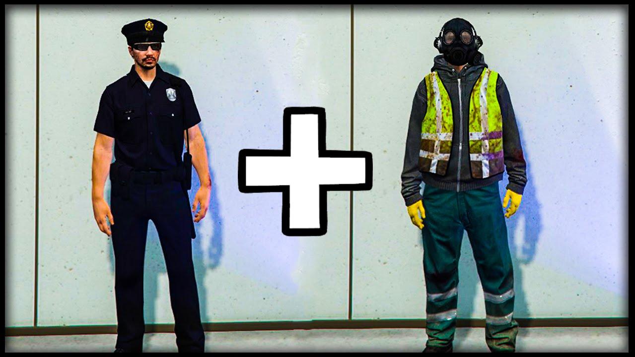 GTA 5 Online - UPDATED u0026quot;Police Uniformu0026quot; u0026 u0026quot;Garbage Manu0026quot; Outfit Glitch! (After patch 1.31) - YouTube