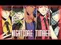 Nightcore - Timber (switching vocals)