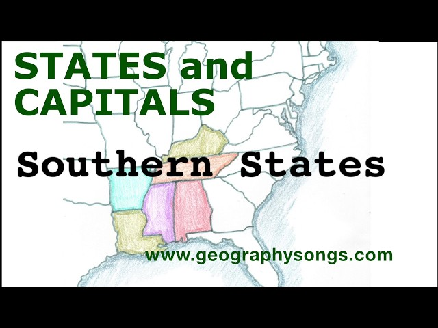 US States and Capitals, Southern States