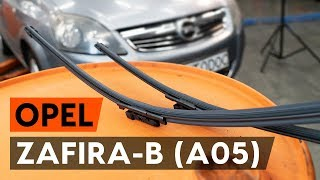 How to replace Disk pads on OPEL ZAFIRA B (A05) - video tutorial