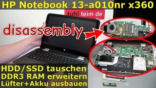 HP Pavilion X360 Convertible Laptop Notebook RAM Upgrade HDD SSD - Hewlett-Packard disassembly