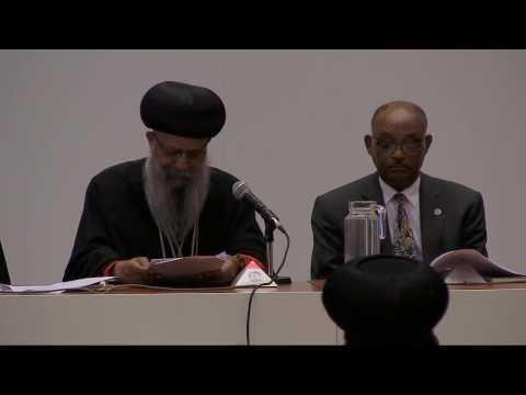Ethiopian Patriarch H.H. Abune Matthias addresses the World Council of Churches