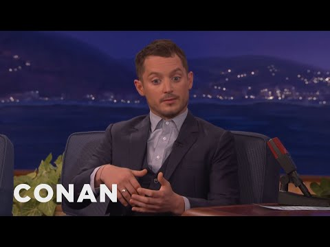Elijah Wood Explains Why Witches Use Broomsticks   CONAN on TBS