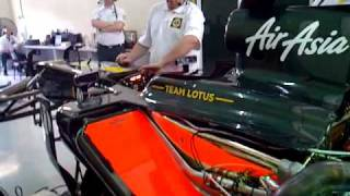 Team Lotus engine fire up in Malaysia